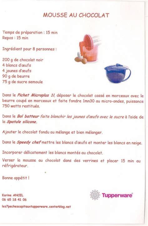 mousse chocolat tupperware