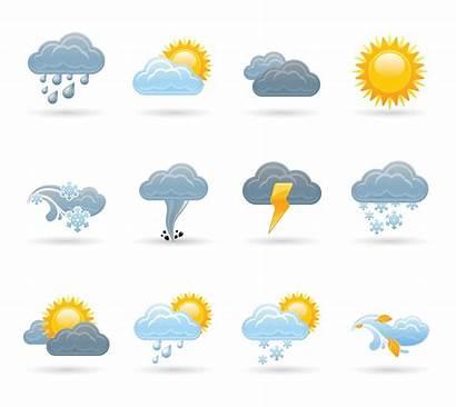 Weather Cloud Icons Homework Vectors Geography Children