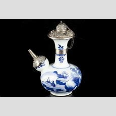 Antique Chinese Taste Blue And White Porcelain, Ming And