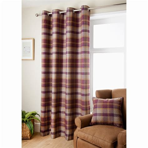 oakland check curtain    curtains bm