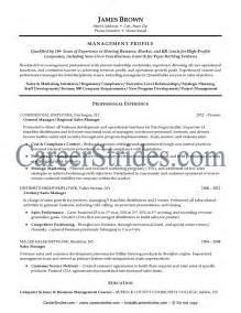 resume for general manager general manager resume sle exle