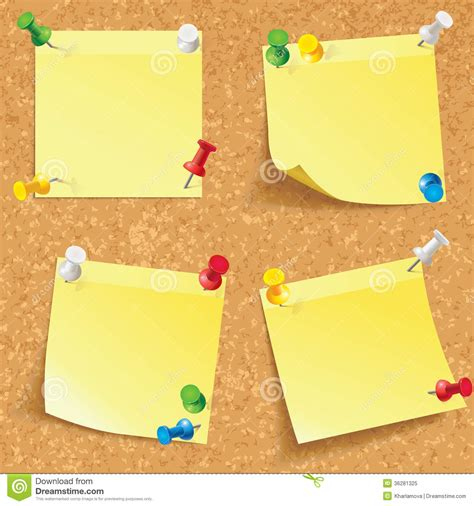 sticky note set yellow stick note royalty free stock photo image 36281325
