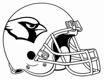 Cardinals Coloring Arizona Pages Helmet Football Baseball