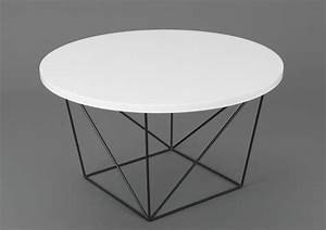Pied De Table Basse Metal : table basse ronde noire metal mobilier design d coration d 39 int rieur ~ Teatrodelosmanantiales.com Idées de Décoration