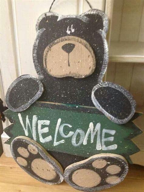 cute wood bear  sign craft bear crafts wood