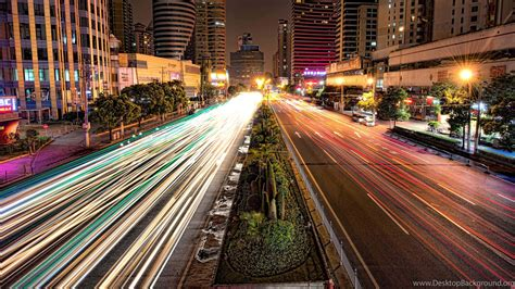 busy road  shanghai  night hd wallpapers