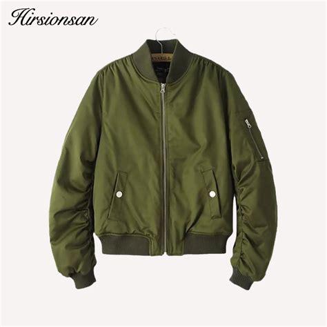 casual bomber army basic jacket coat zipper army green bomber jacket