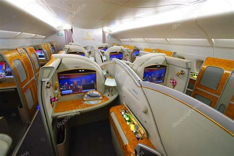 Airbus A380 Interni - emirates airbus a380 interni foto editoriale stock