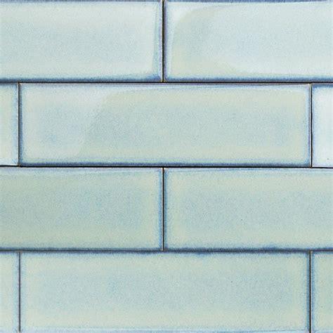 Tile Bar Byzantine Alice Blue Ceramic Subway Tile  2 12