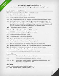 music resume sample resume genius With free musician resume template