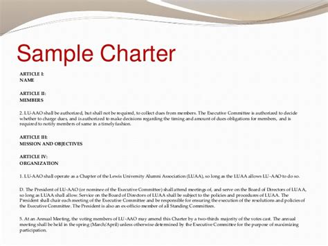 committee charter template word committee charter template