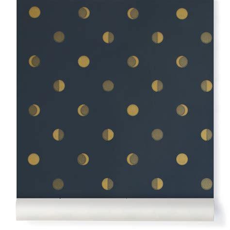papier peint croissants de lune encre bleu nuit bartsch