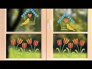 Dekoration Fürs Fenster : diy fenster deko f r den fr hling youtube ~ Pilothousefishingboats.com Haus und Dekorationen