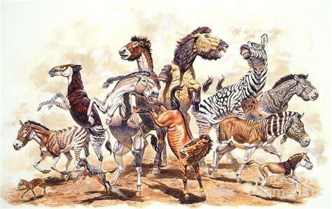 prehistoric horses mark paleoart hallett animals zoobooks extinct species horse hallet elephant mammals elephants dinosaurs wildlife dinosaur american ancestors fauna