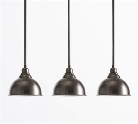 pb classic 3 light pendant metal bell pottery barn