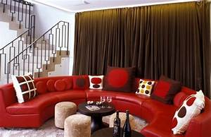 Deco Salon Moderne : decoration salon moderne noir et rouge alltag25 ~ Zukunftsfamilie.com Idées de Décoration