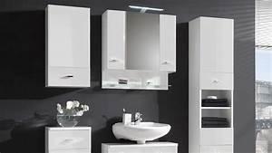 Hochschrank weisser badezimmer schrank in hochglanz 2 turig for Weißer hochglanz schrank