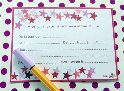 Carte Anniversaire Fille by Carte D Invitation Anniversaire Fille Anniversaire