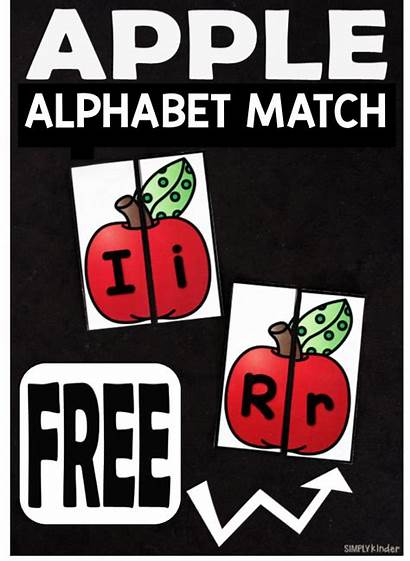 Alphabet Apple Match Cards Matching Apples Letter