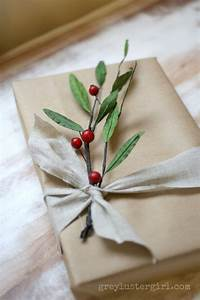 Easy gift wrapping ideas with kraft paper for Wedding gift wrapping ideas