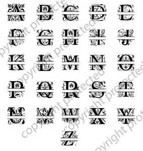Split Letter Monogram SVG Files for Silhouette