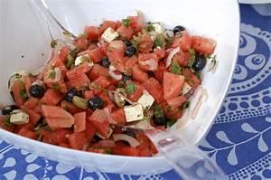 Melone Mit Schafskäse : wassermelonen salat mit schafsk se und kr utern ~ Watch28wear.com Haus und Dekorationen