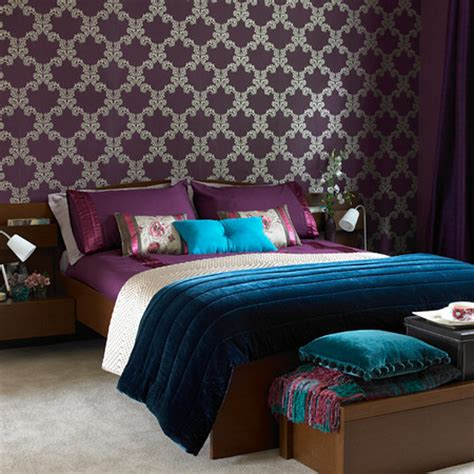 purple wallpaper bedroom beautiful things are love and dreams quartos de sonho 13019 | bedroom decorating ideas with purple wallpaper hometo%2Blife