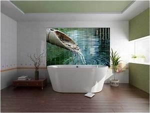 Fototapete Für Bad : 20 kleine badezimmer dekoration ideen fototapete als wanddeko ~ Sanjose-hotels-ca.com Haus und Dekorationen