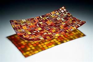 Long Fall Harvest Platter by Robert Wiener (Art Glass
