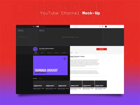 channel template psd channel mockup template free psd 72pxdesigns