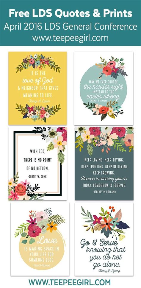 april  lds general conference quote printables lds conference church quotes lds quotes