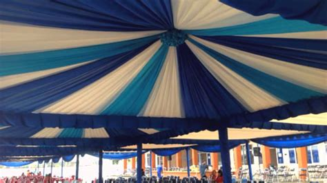 dekorasi tenda kerucut sarnafil prima event sewa tenda makassar youtube