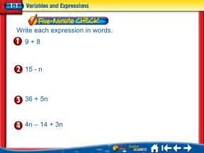 Translating Verbal Expressions to Algebraic
