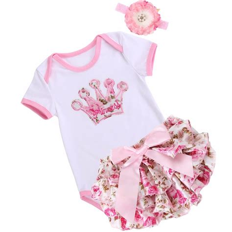 Infant Clothes by Unicorn Crown Infant Baby Clothing Set Bodysuit