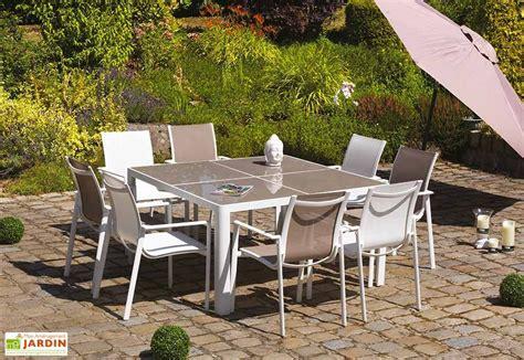 Salon De Jardin Aluminium Et Verre by Salon De Jardin Aluminium Et Verre 8 Places Velasquez