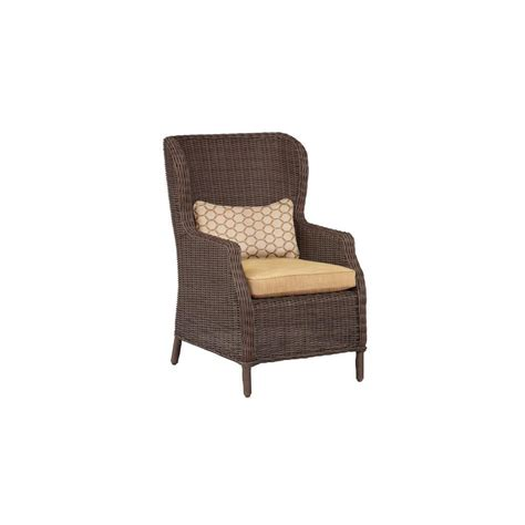 brown vineyard patio cafe chair in toffee with