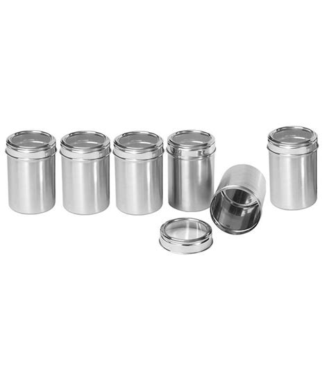 dynamic store stainless steel kitchen dynore stainless steel kitchen storage canisters with see