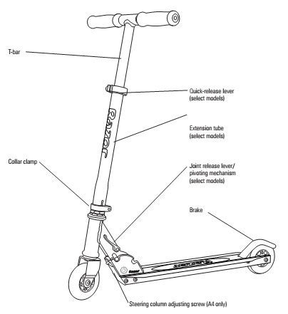 Ga Scooter Diagram by Razor A Kick Scooter Kick Scooter And Kickscooter
