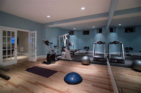 home basement gymnasium and studio modern home