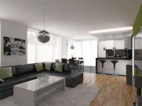 Svetainės su virtuve interjeras. | Interior design, Home ...