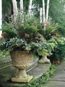 winter porch pots outdoor decor images