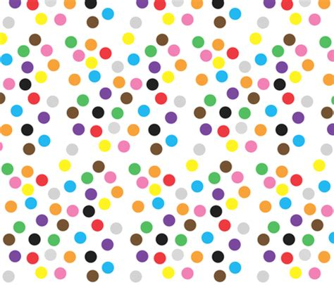 color dots coloured dots fabric greennote spoonflower