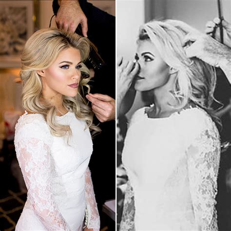 wedding day hair  witney carsons exact curls