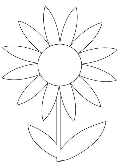 spring flower printable coloring image flower