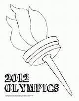 Olympic Coloring Torch Template Socchi Popular sketch template