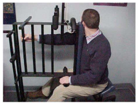 pettibon wobble chair exercises history and examination
