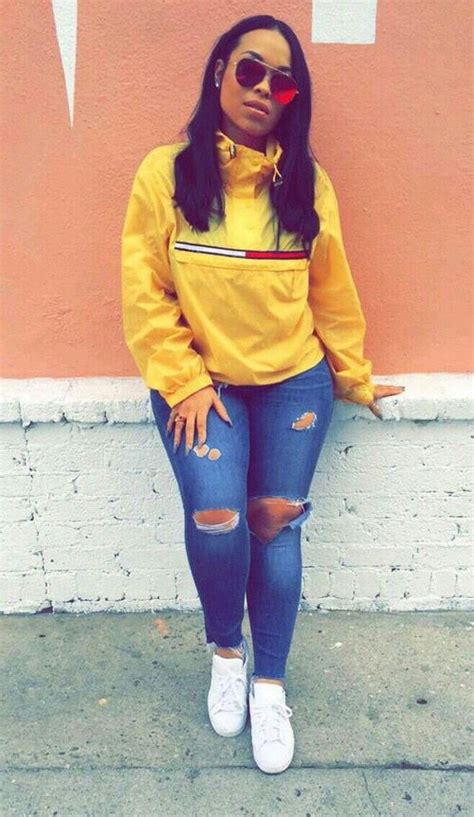 The 25+ best Yellow hoodie ideas on Pinterest | Tommy hilfiger coats Sweatshirt outfit and ...