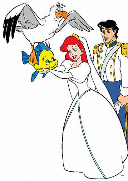 Disney Ariel Princess Clipart Clip Eric Bride