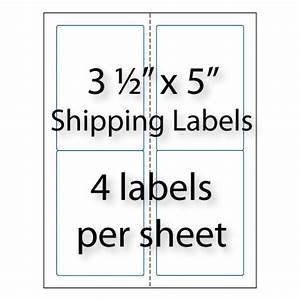 shipping labels 3 1 2quot x 5quot 4 up averyr 5168 compatible With avery labels 2 x 3 5