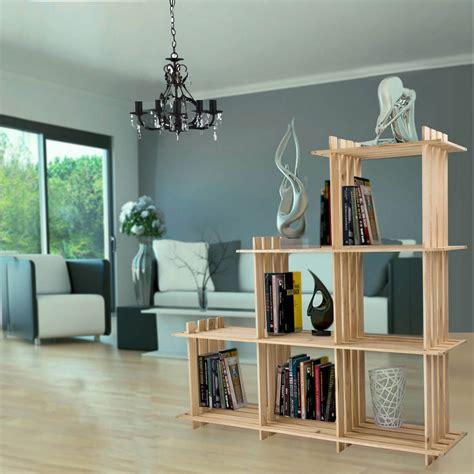 Design Bücherregal  Standregal Raumteiler Aus Holz, 6 Würfel